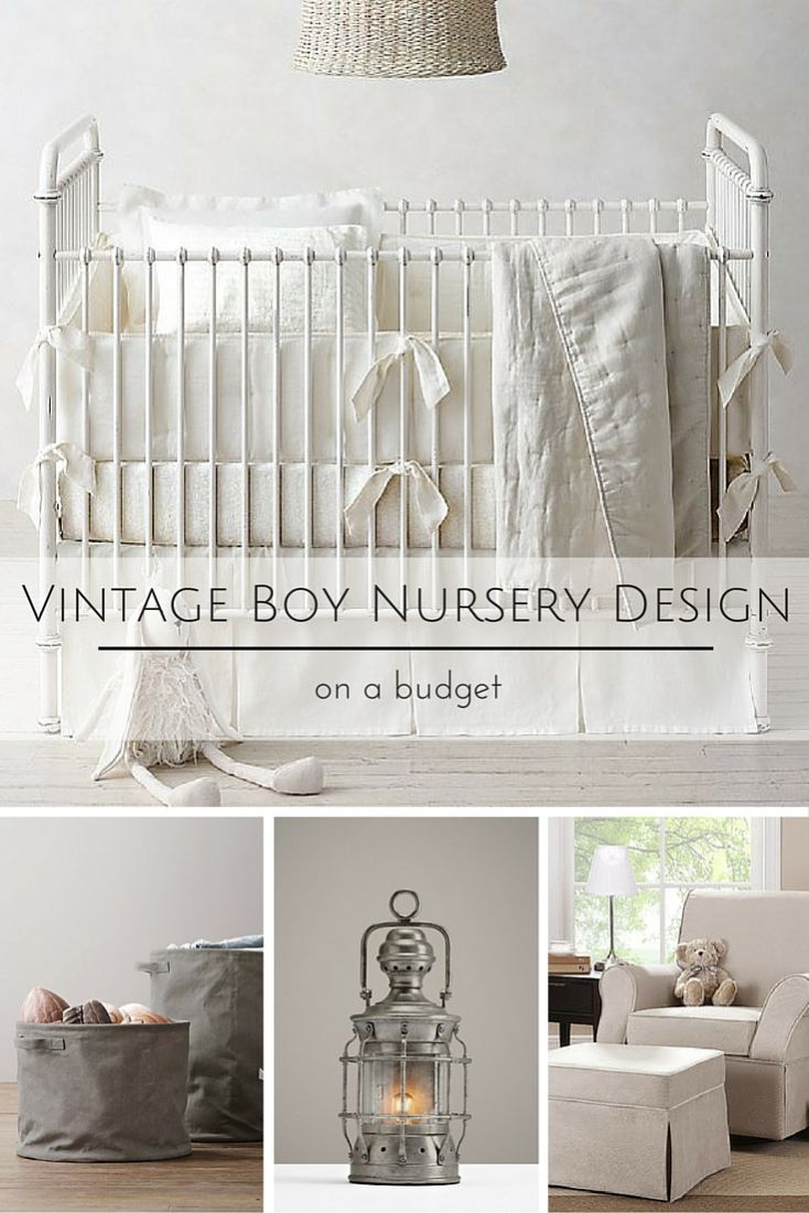 I can't wait to share this Vintage Boy Nursery Design and how I designed it all with a budget in mind!