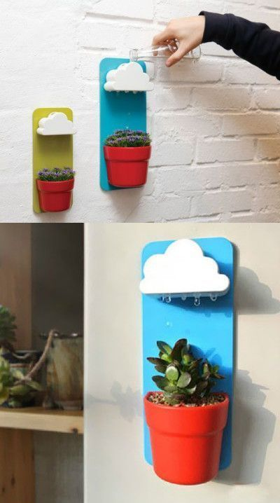 Nice awesome rainy pots keep plants happy healthy home for Diy inventions household items