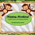 Missing Monkeys!  This is a zoo/jungle themed set of math centers, focusing on missing addends.