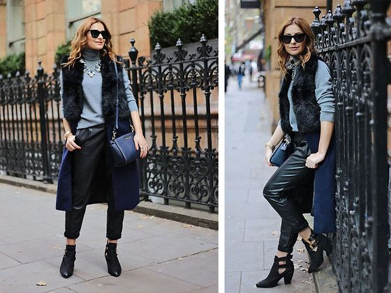 Get this look: http://lb.nu/look/7965678  More looks by Elena Sandor: http://lb.nu/eileen08  Items in this look:  She Inside  Coat, Jumper, Zara  Trousers, Michael Kors Bag, Topshop Boots   #chic #elegant #street #fur #leather #streetstyle #streetfashion #winter #winterlook