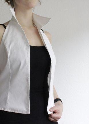 Kaufe meinen Artikel bei #Kleiderkreisel http://www.kleiderkreisel.de/damenmode/westen/126300752-weisse-stretch-weste-von-mister-lady