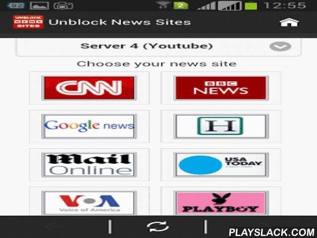 """Unblock News Sites  Android App - playslack.com , Do you have trouble accessing news sites? Do you want to read blocked news sites at where you live? Do you enjoy reading the news freely and multi-dimensional? If you say """"YES"""", this application is what you need ! Please download the application and enjoy the news from around the world ! Unblock News Sites app will makes accessing blocked news sites become simpler and easier, it's free !!!* Fast unblock for news sites:- CNN…"""