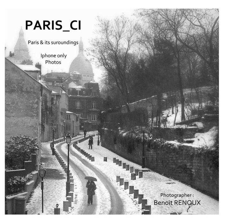 Paris_ci - Benoit Renoux - Paris et sa région l'Ile de France à travers des photographies Iphone noir et blanc, déclinés en thèmes qui sont autant d'invitations au voyage pour découvrir ou redécouvrir la ville, ses banlieues et ses habitants. #paris #parigi #livre #book