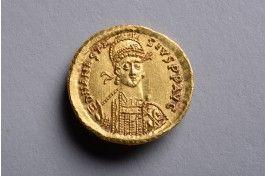 FDC Byzantine Gold Solidus Coin of Emperor Anastasius - 507 AD