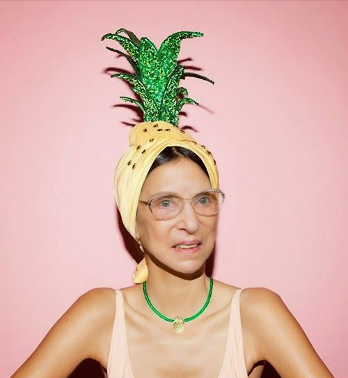 ruth-bader-ginsburg dressed as a pineapple. This is beautiful.