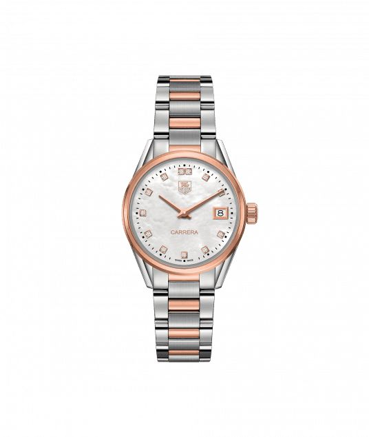 TAG Heuer Carrera 100 M - 32 mm Rose Gold & Diamonds WAR1352.BD0779 TAG Heuer watch price