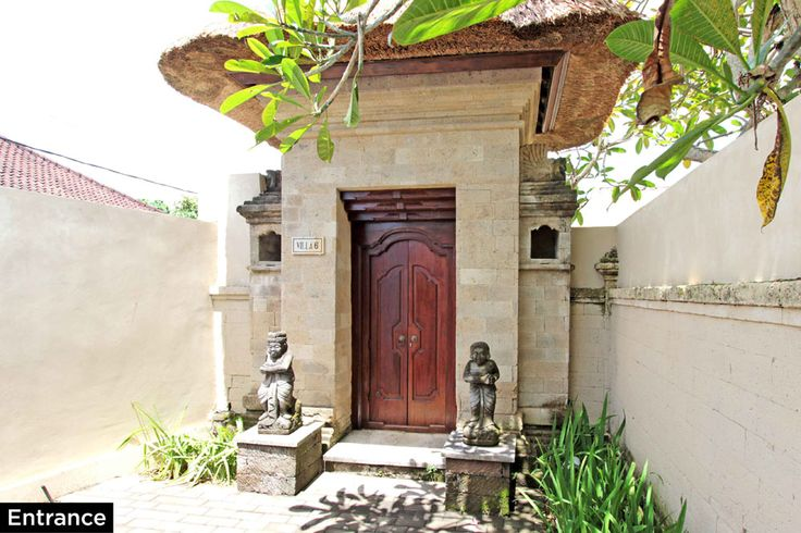 Entrance • PRIVATE POOL VILLA ON SANUR, BALI • FOR SALE • 800m2 land area • 2 Bedroom villa with private pool • Gated estate with expatriate villas • 24 hours security • 500 metres from bypass Sanur • 25 years leasehold • For Enquiries: (+62) 0819 9941 1123 • Email: info@villakambojasanur.com