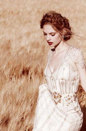 redheaded bride in the dream dress