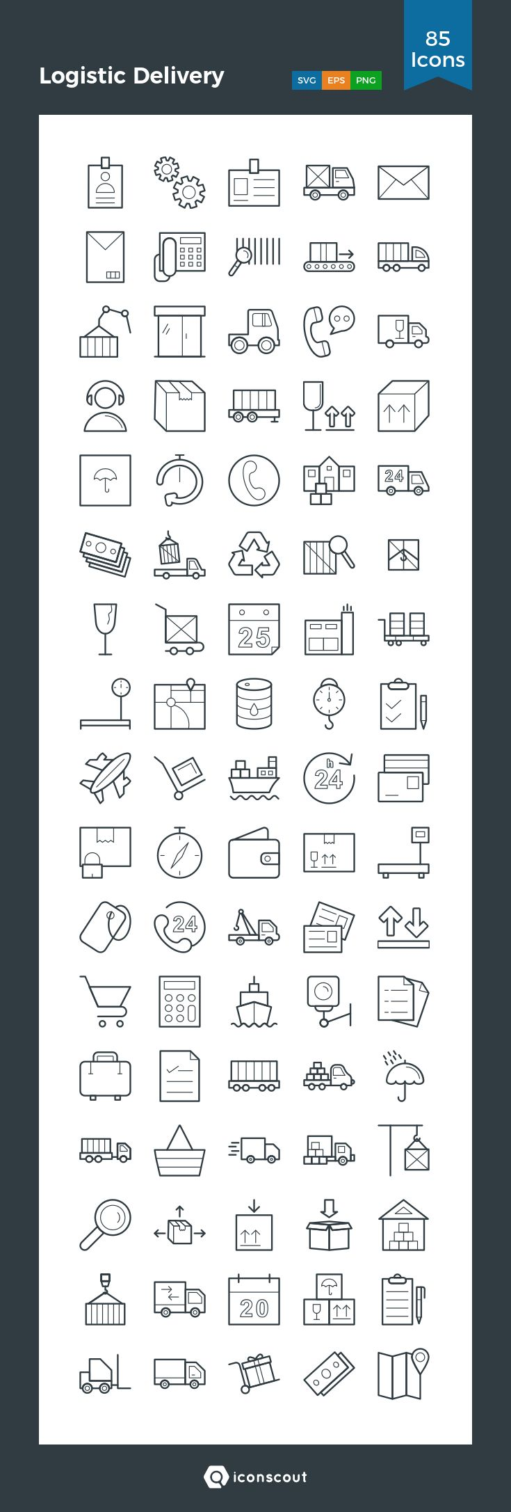 Download Logistic Delivery Icon pack - Available in SVG, PNG, EPS, AI & Icon fonts