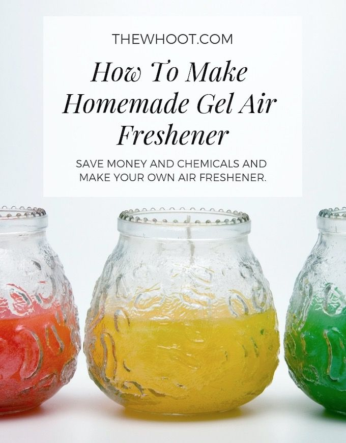 Homemade Air Freshener Gel 3 Ingredients With Images
