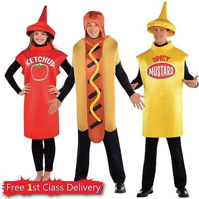 American food adults fancy dress #dinner #ketchup #mustard hot dog costumes,  View more on the LINK: 	http://www.zeppy.io/product/gb/2/172081832916/