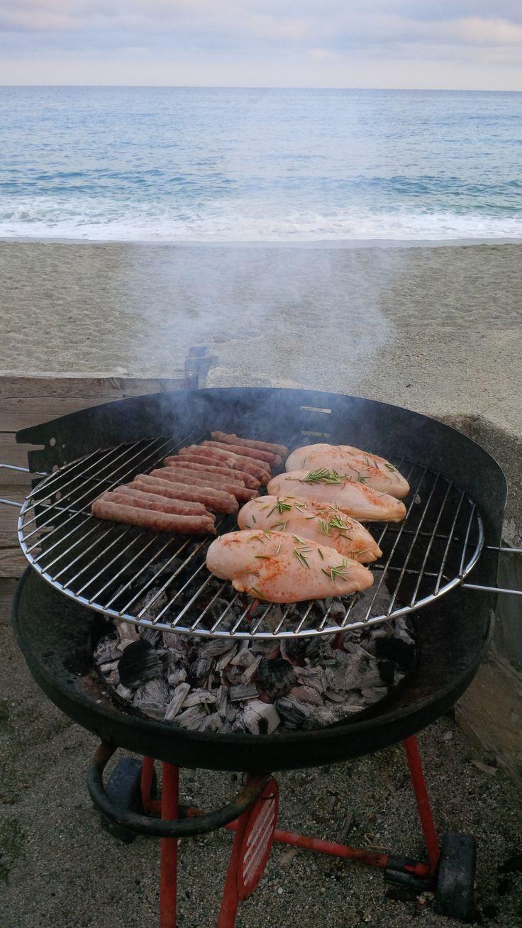 Pollo marinato alla griglia.