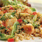 Toasted Quinoa Salad with Scallops - Try shrimp?