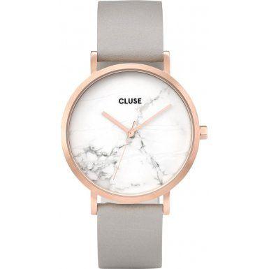 CLUSE-La-Roche-Rose-Gold-White-MarbleGrey-Armbanduhr-Damen-CL40005