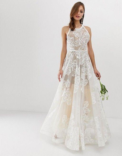 4855a7289c09a5 Bronx   Banco exclusive Fiora embellished bridal gown in 2019