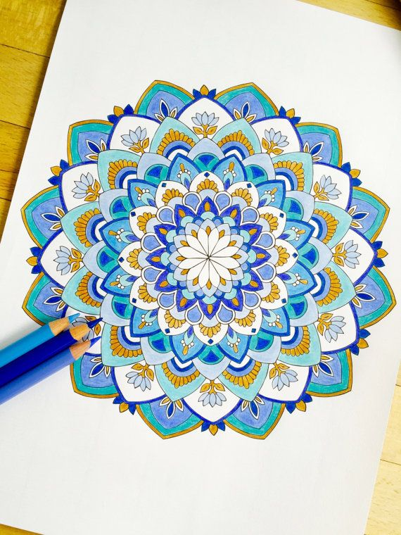 Coloring Pages With Examples. Mandala Virtue Hand Drawn Adult Coloring Page by MauindiArts 15 best Examples images on Pinterest