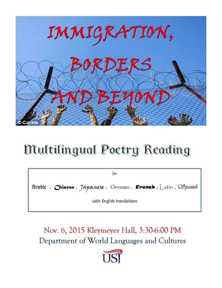 Join us for our annual Multilingual Poetry Reading!