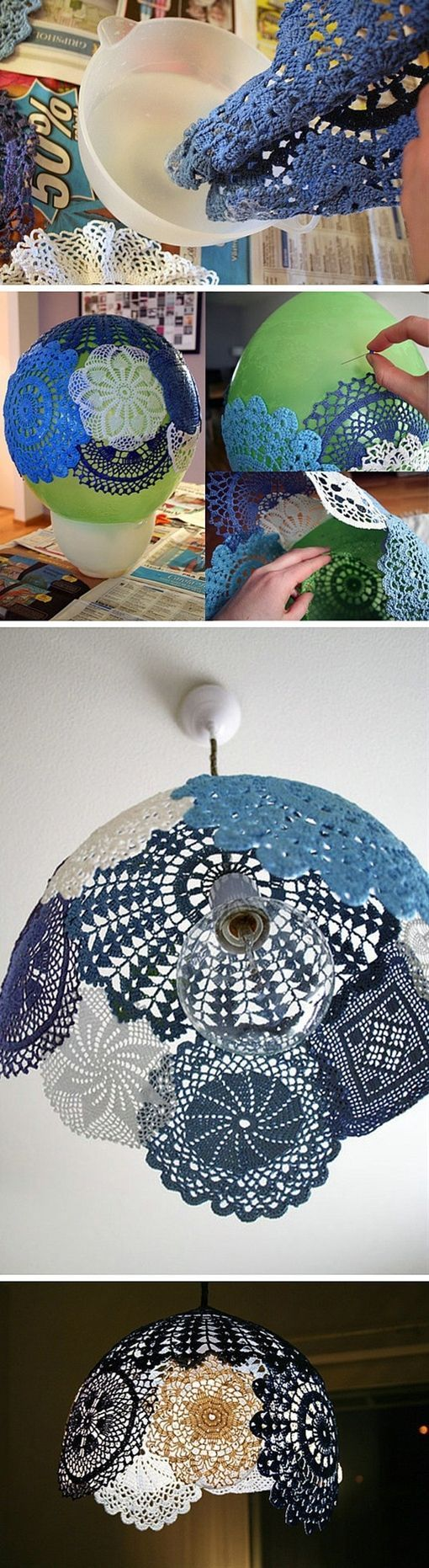 DIY Doily Chandeleir Pictures, Photos, and Images for Facebook, Tumblr, Pinterest, and Twitter