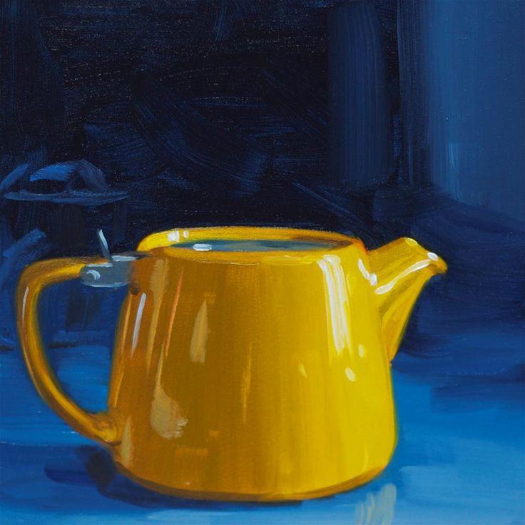 Quot Little Yellow Teapot Quot Original Fine Art By Heather