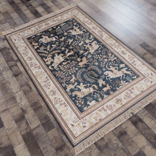 Hand Knotted Persian Wool Silk Rugs Art Decorative Carpet(4'X6') £2,990.00