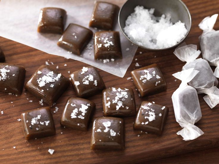 """Not our usual 20-minute recipe, but so worth the time! These gourmet caramels have just the right amount of sweetness to complement the deep, bold flavor of our <a href=""""~/link.aspx?_id=B84795DD0F7A4BFBA26C5F8C747EEDEB&_z=z"""">Salted Caramel Coffee</a>. Finish with a light sprinkle of sea salt to make these buttery bites a delightful gift."""