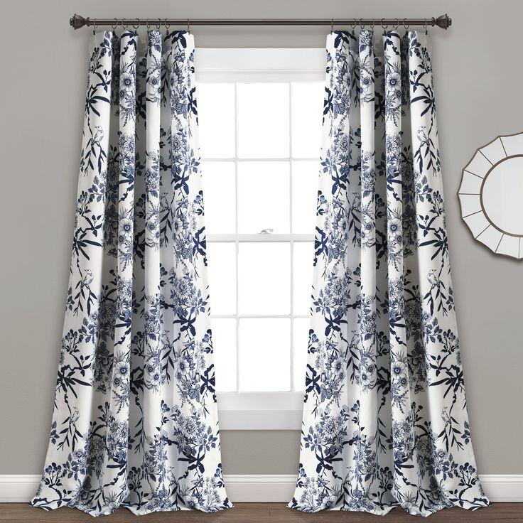 Moretinmarsh Floral Thermal Rod Pocket Curtain Panels In 2021 Panel Curtains Curtains Rod Pocket Curtain Panels