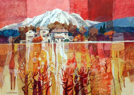 gerald brommer - I have long admired Brommer's work, his use of paper collage along with his watercolor technique.