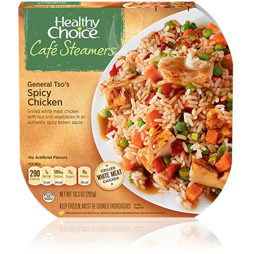 Healthy Choice Café Steamers Asian Inspired General Tso S Y En Microwave Mealsquick Mealsfrozen