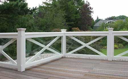 gelander fur balkon garten und terrasse hartholz weiss With feuerstelle garten mit kommode für balkon