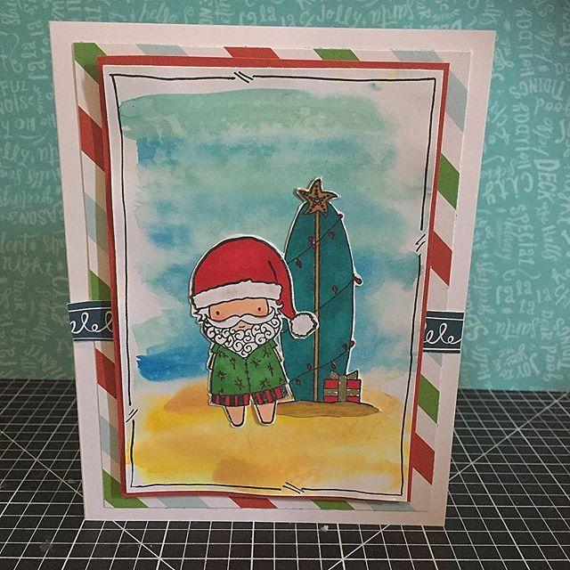 A real Aussie Christmas Card. Love this cute Surfin Santa.