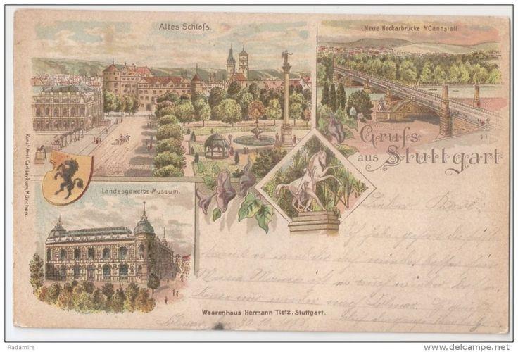 CARTE POSTALE CPA ALTE ANSICHTSKARTE AK PC POST CARD ОТКРЫТКА Grüß aus Stuttgart 1899.