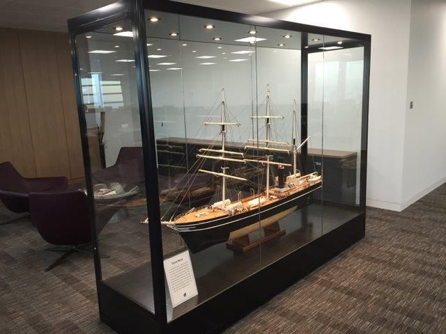Our custom made display cases and cabinets can be created for the smallest diamond rings, to items as large as a motorbike! This custom designed glass display cabinet was designed to house this impressive beautiful wooden model ship!