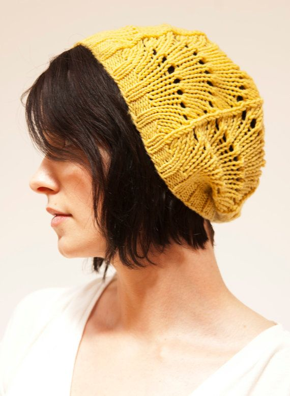 lace hat knitting pattern -- free download at rubysubmarine.com - think I will knit this for myself this autumn, maybe using a yarn with a metallic sheen...