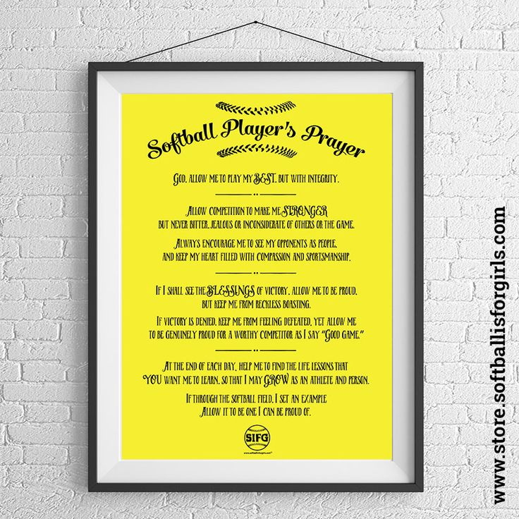 Softball Room Decor Posters  | Softball is For Girls