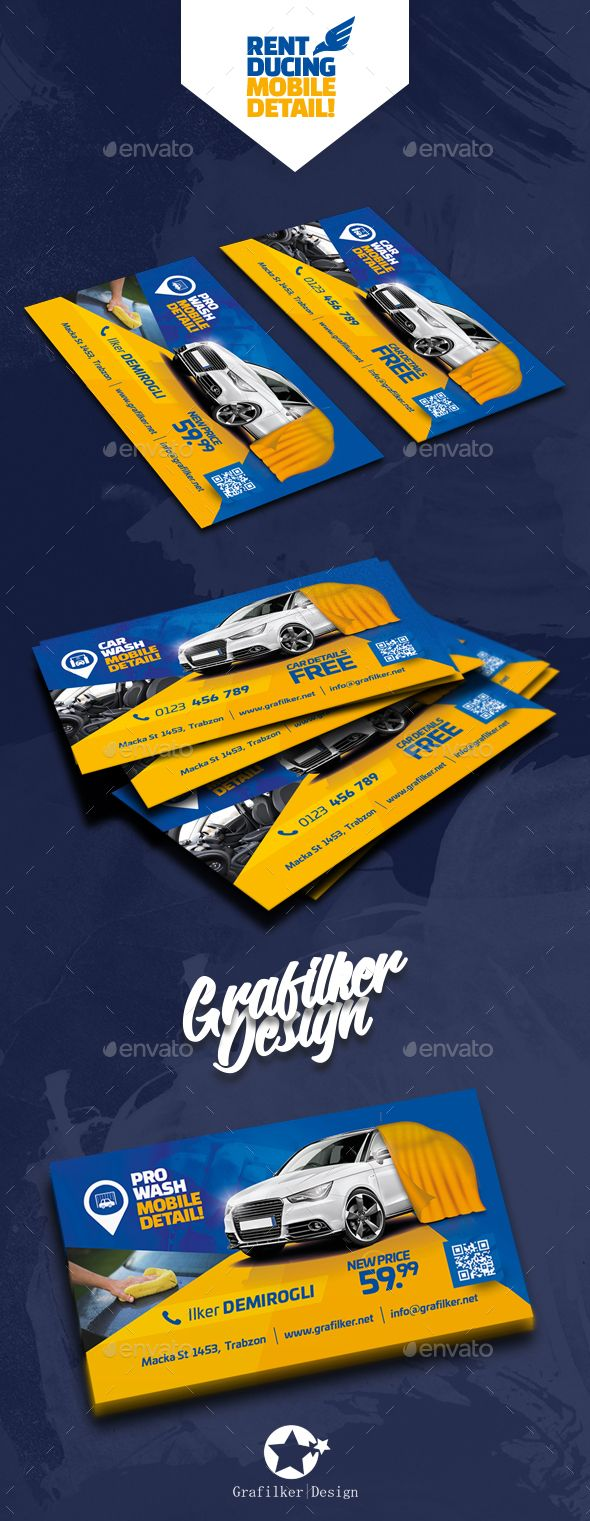 Car Wash Business Card Templates Car Wash Business Business Card Template Design Business Card Template Psd