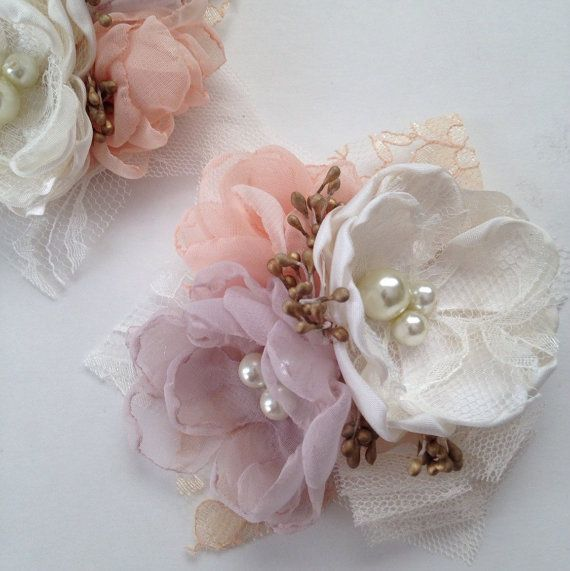 Corsage Pin  Fabric Flower Corsage Pin  in by TheVintageCabbgeRose