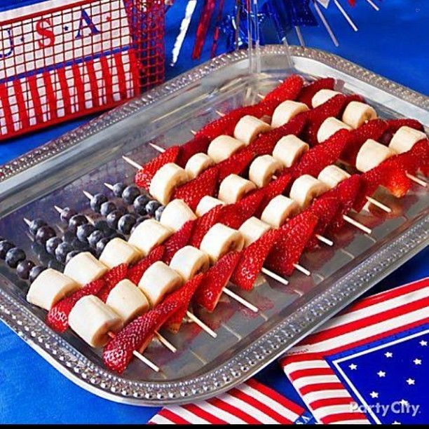 Happy 4th of July! Stay safe everyone! Here is a fun and healthy treat you can serve if attending or hosting a party today.... - Interior Design Ideas, Interior Decor and Designs, Home Design Inspiration, Room Design Ideas, Interior Decorating, Furniture And Accessories