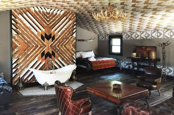 Urban Cowboy Nashville is a boutique  bed and breakfast is housed in a historic Victorian mansion with a style that could be described as Southwestern Deco perfect for bachelorette bashes.