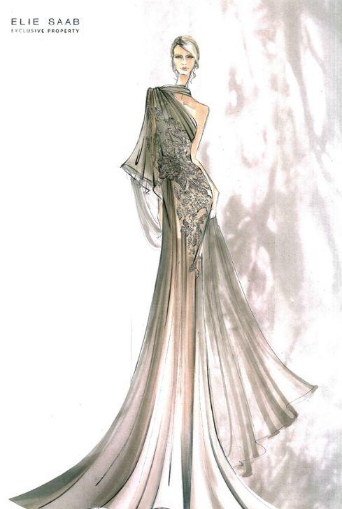 elie saab sketch !!!!!!@@@@¡¡¡¡.....http://www.pinterest.com/lilacraindrops/fashion-illustrations/