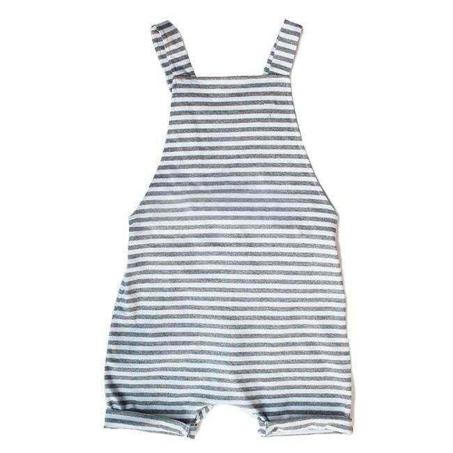 Gray Label Salopette Shortleg grey melange/weiß
