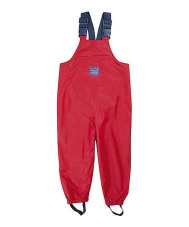 This Red Waterproof Overalls - Infant, Toddler & Boys is perfect! #zulilyfinds