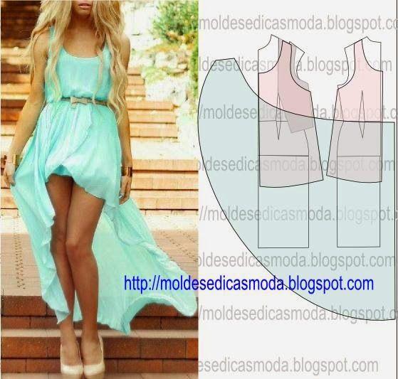 Moldes Moda por Medida: TRANSFORMAÇÃO DE VESTIDO-134
