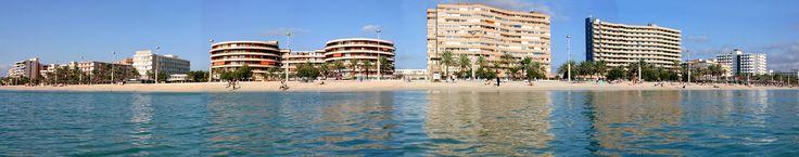 Playa de Palma on the island of Mallorca (Majorca), Spain