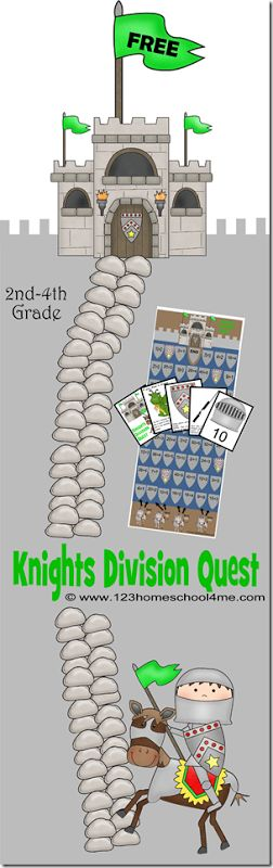 free game for 2nd - 4th grades - knights division quest