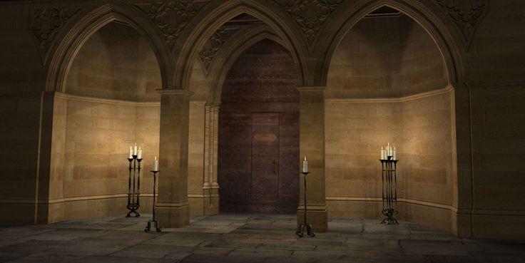 Le portail de la salle des lazuliennes, ordinairement interdite aux hommes.