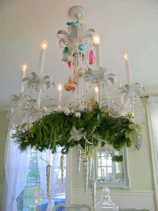 47 best decorated chandeliers images on pinterest chandeliers christmas chandelier decorations for 2012 aloadofball Images