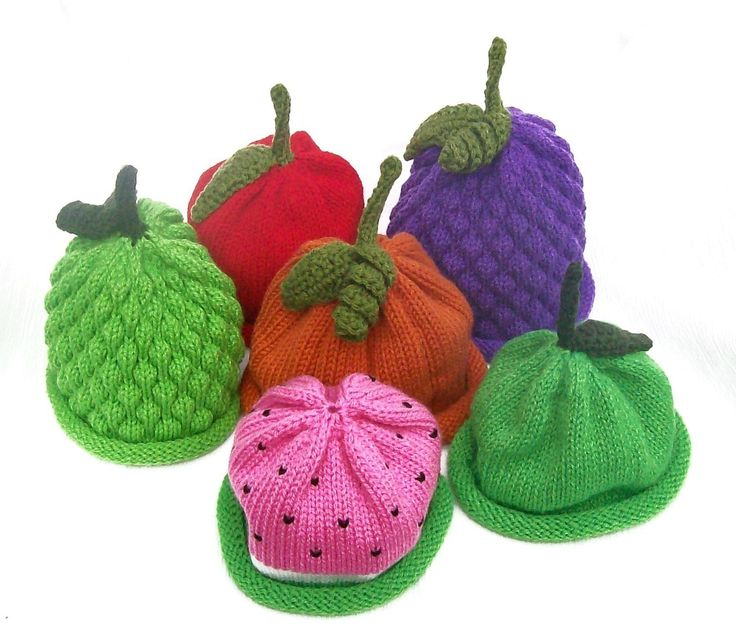 Knit  Fruit Hats