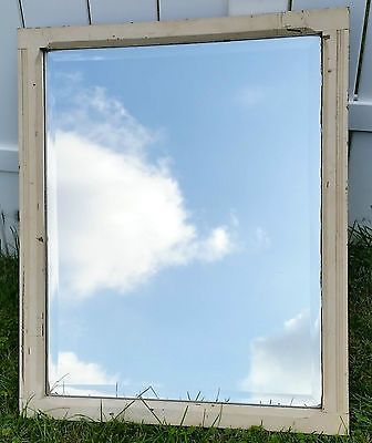 Antique primitive farm house beveled #mirror rare vintage #wooden #frame #mirror ,  View more on the LINK: 	http://www.zeppy.io/product/gb/2/172363208976/