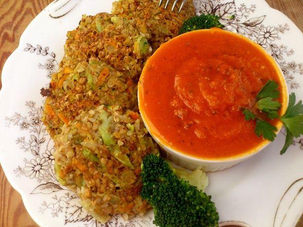 Zdrowe Odżywianie - Dietetyczne Przepisy Kulinarne: Kotleciki gryczano warzywne - wegetariański obiad