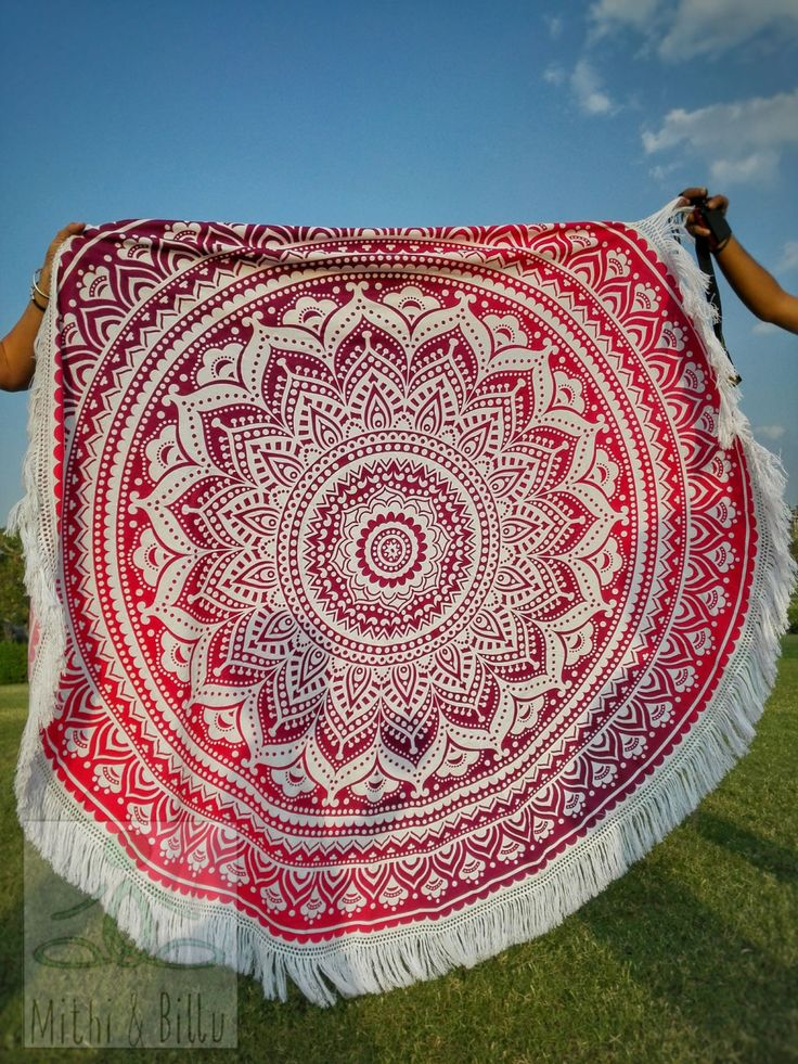 beach blanket with my mandala
